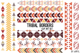 Tribal Borders Earthtone PNG Clip Art for Commercial Projects