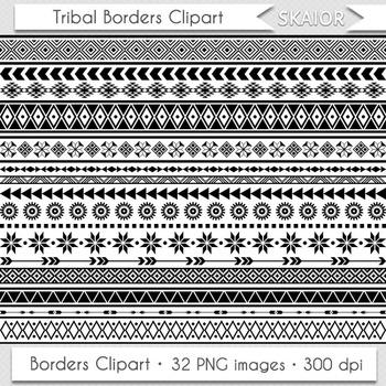Tribal Borders Clipart Geometric Borders Native American Aztec Ethnic African