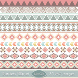Tribal Borders Clipart Ribbons Clip Art Aztec Native Ameri