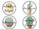Tribal Cactus Theme Classroom Job Labels