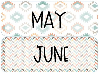 Tribal Calendar Set