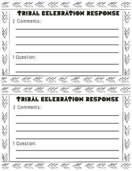 Tribal Celebrations Response Cards
