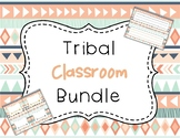 Tribal Classroom Bundle - Navy and Coral (UPDATED)