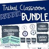 Tribal Classroom Decor Bundle (Navy, Teal, White)