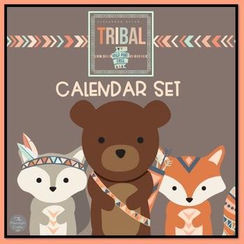 Tribal Classroom Decor Calendar Set