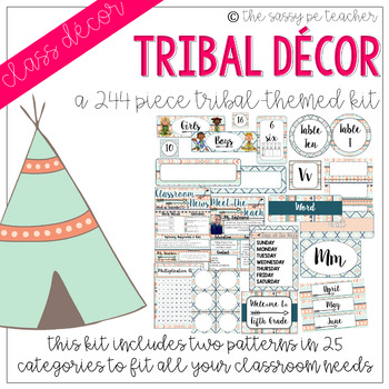 Tribal Classroom Decor Pack