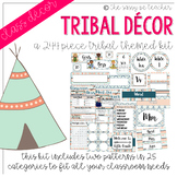 Tribal Classroom Decor Pack