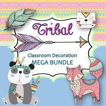 Tribal Classroom Decoration Kit-Editable!