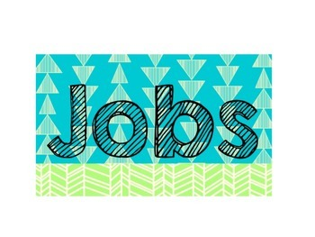 Tribal Classroom Jobs-cursive and print