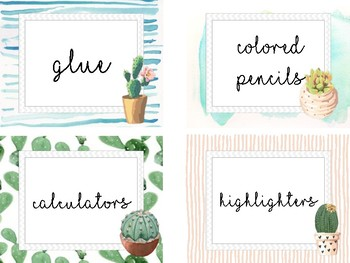 Tribal Classroom Supply Labels