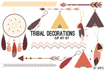 Tribal Clip Art Earthtone PNG Clip Art Commercial Projects Arrow Dreamcatcher