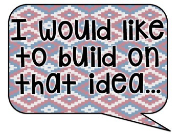 Tribal Decor Accountable Talk Speech Bubbles {Navy & Red}