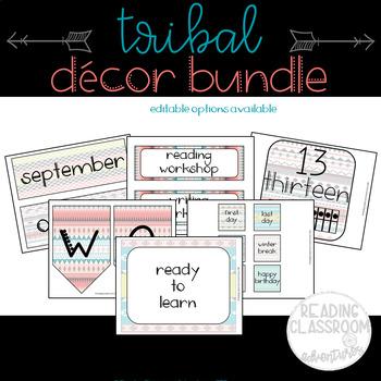 Tribal Decor {Editable} Bundle
