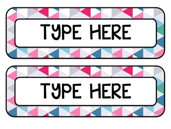 Tribal Decor Schedule Cards & Editable Cards {Navy, Pink, Teal & Gray}