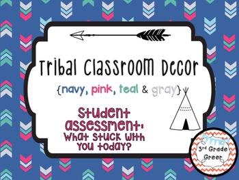 "Tribal Decor ""What Stuck With You?"" {Navy, Pink, Teal & Gray}"