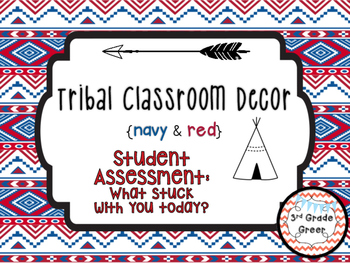 """Tribal Decor """"What Stuck With You?"""" {Navy & Red}"""