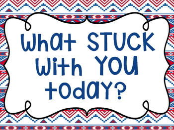 "Tribal Decor ""What Stuck With You?"" {Navy & Red}"