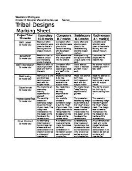 Tribal Designs Marking Sheet
