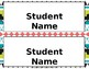 Tribal Desk Name Plates {EDITABLE}