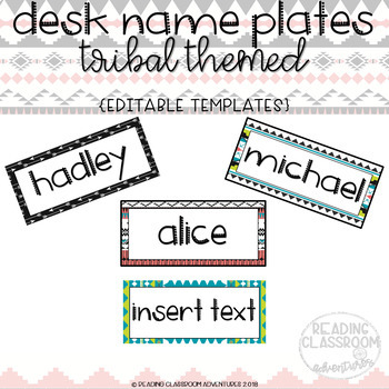 Tribal Desk Name Plates {E D I T A B L E}