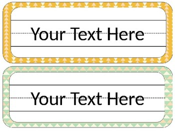 Tribal Desk Tags and Name Plates {EDITABLE}