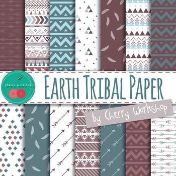 Tribal Digital Paper -Earth