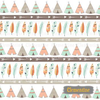 Tribal Digital Papers - Lovely Clementine