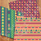 Tribal Digital Papers / Geometric Backgrounds / Aztec Papers / Navajo Patterns