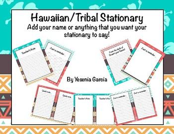 Tribal/Hawaiian Stationary (Editable)