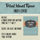 Tribal Island Theme Editable Binder Covers and Spines