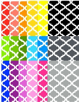 Tribal Lattice Background- Rainbow
