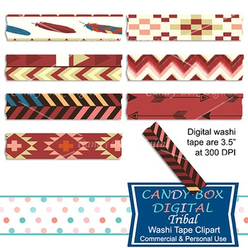Tribal Native Indian Washi Tape Clip Art