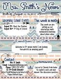 Tribal Theme Newsletter