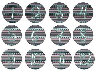 Tribal Numbered Circle Labels