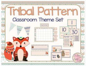 Tribal Pattern Classroom Theme Set