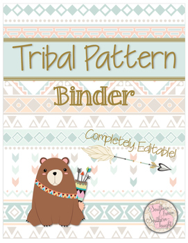 Tribal Pattern Teacher Forms and Spreadsheets