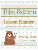 Tribal Pattern Teacher Planner