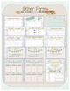 Tribal Pattern Teacher Planner and Forms Combo