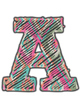 Tribal Print ABC Bulletin Board Letters