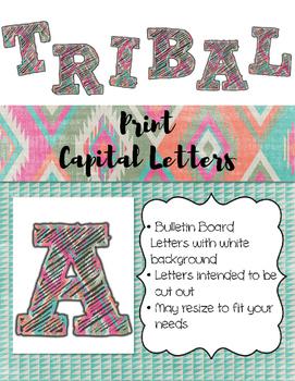 Tribal Print ABC Bulletin Board Letters