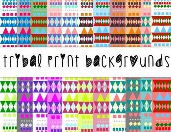 Tribal Print Scrapbook/Digital Paper