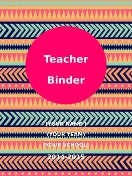 Tribal Print Binder Combo Pack (Editable)