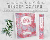 Tribal Print Binder Covers & Inserts