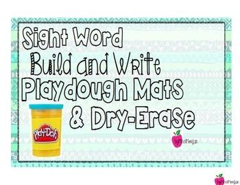 Tribal Print Playdough Mats for Sight Words
