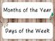 Tribal & Rustic Calendar Set- EDITABLE