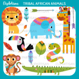 Tribal Safari Animals Clip Art | Safari | Jungle Animals |