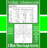 Tribal Shamrock - A Math-Then-Graph Activity - Solving Proportions