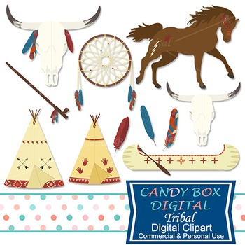 Tribal Southwestern Indian Clip Art