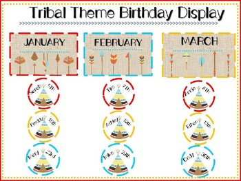 Tribal Theme Birthday Display
