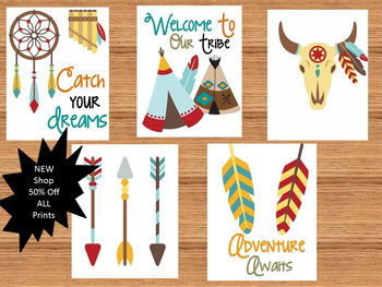 Tribal Theme Bulletin Board Prints Classroom Decor